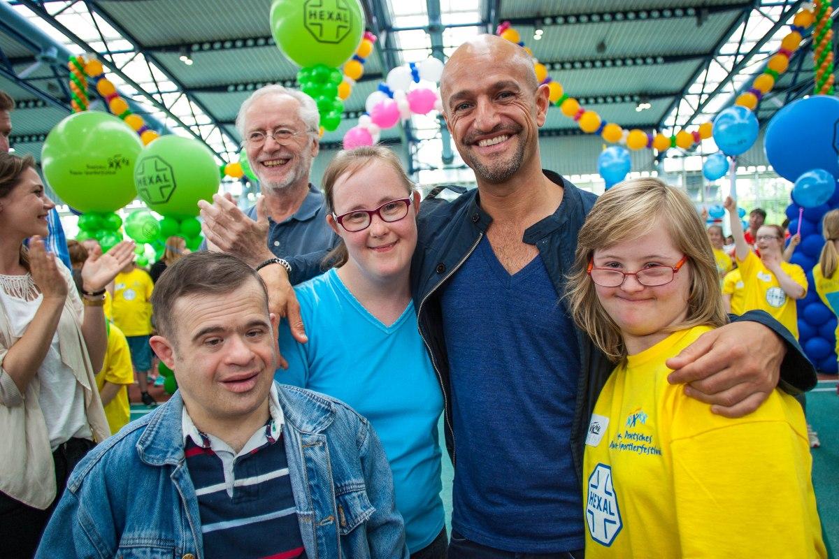 Joachim Luger, Peyman Amin und Carina Kühne, Dt. Sportlerfestival