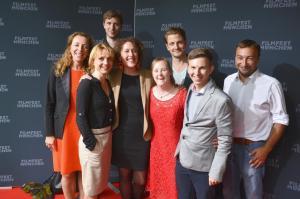 Filmcrew Be my Baby Gruppenbild beim Filmfest München